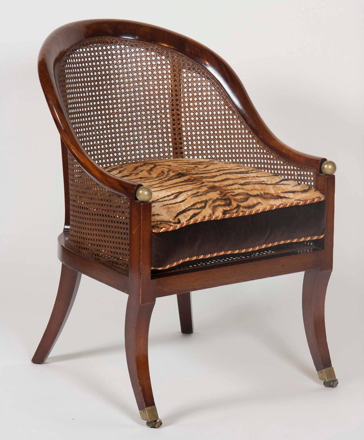 Pair Of Regency Style Mahogany Tub Chairs For Sale At 1stdibs