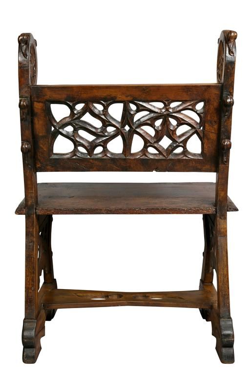 Gothic Fruitwood Bench For Sale 5