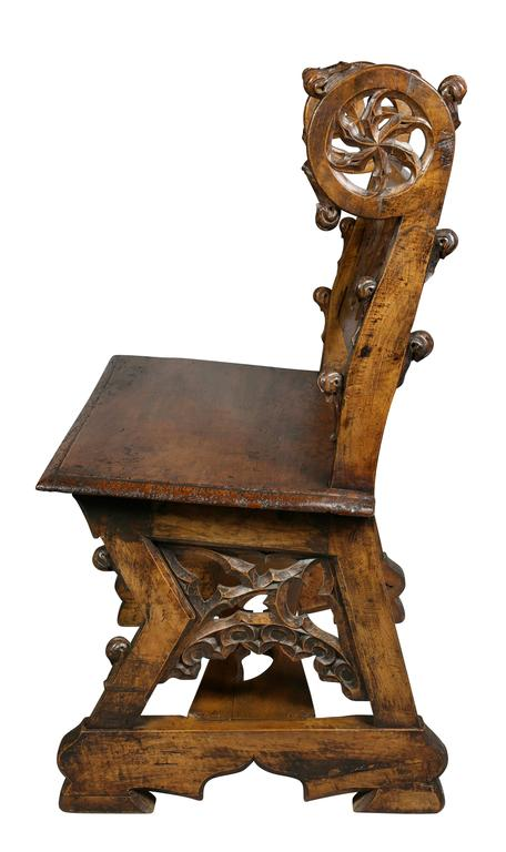 Gothic Fruitwood Bench For Sale 4