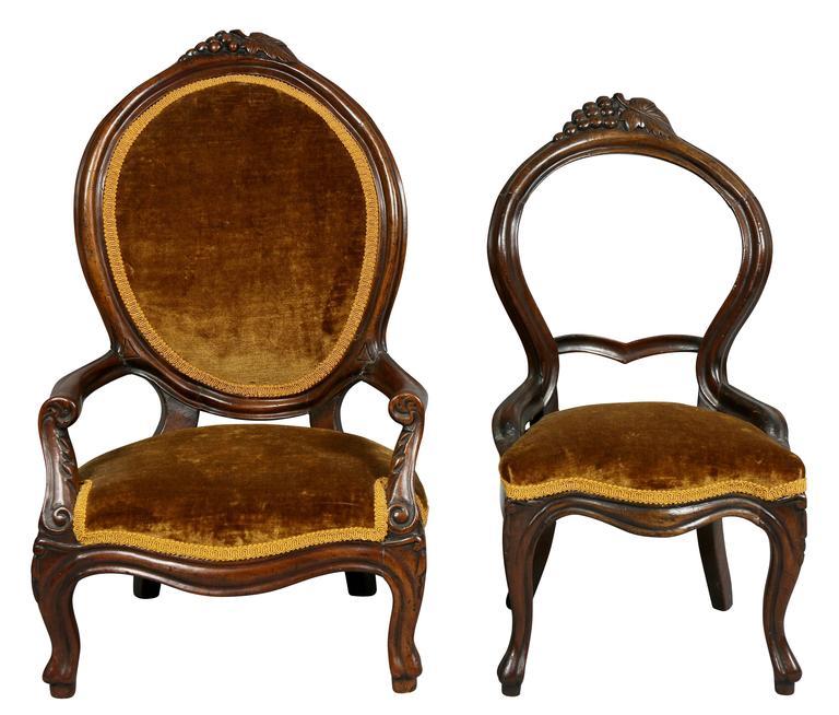 Weird Furniture For Sale: Unusual Suite Of American Victorian Walnut Miniature