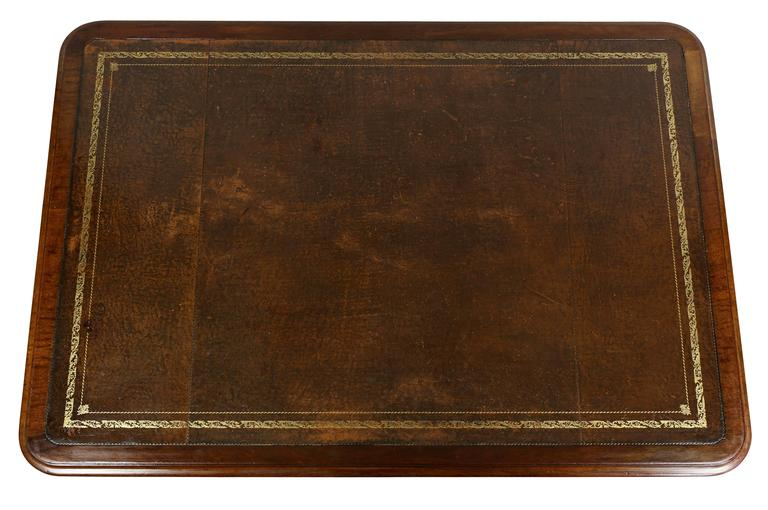 William IV Mahogany Writing Table or Desk In Good Condition For Sale In Essex, MA