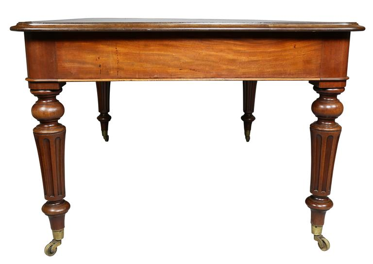 William IV Mahogany Writing Table or Desk For Sale 3