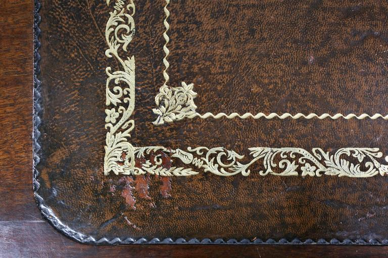 19th Century William IV Mahogany Writing Table or Desk For Sale
