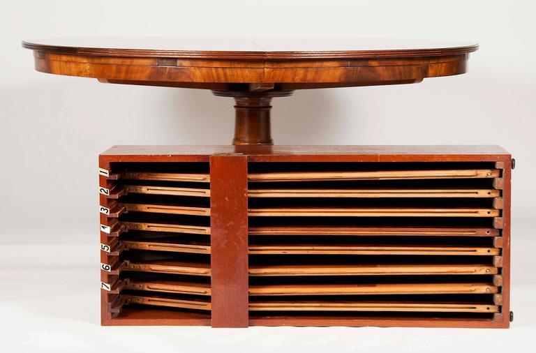 Smith and watson regency style figured mahogany capstan for Jupe mechanism