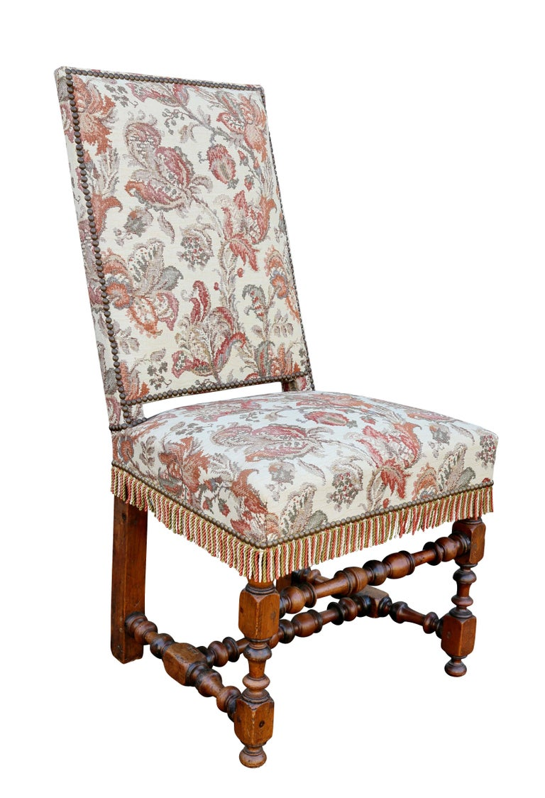 Set of Six Flemish Baroque Walnut Dining Chairs For Sale at 1stdibs