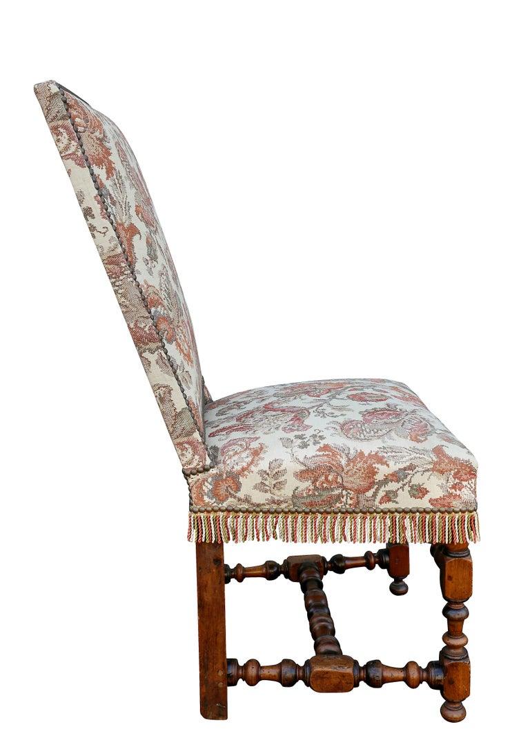 Set of six flemish baroque walnut dining chairs for sale for Baroque style dining chairs