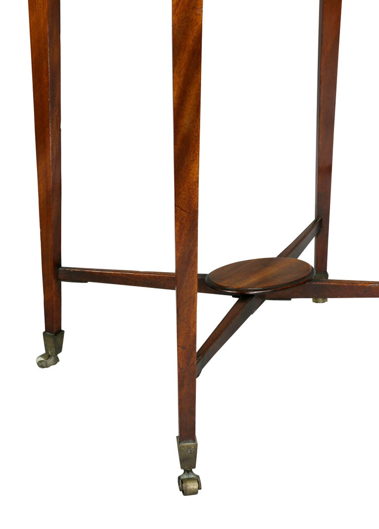 George III Mahogany Work or End Table For Sale 1