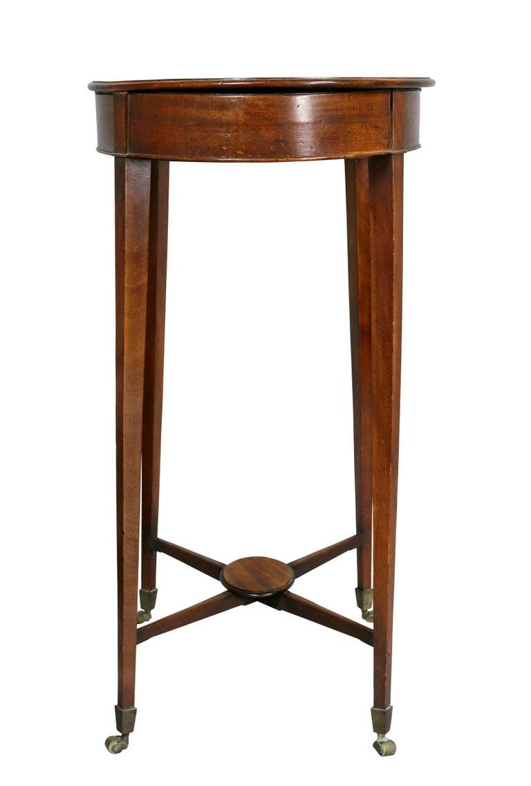 George III Mahogany Work or End Table 8