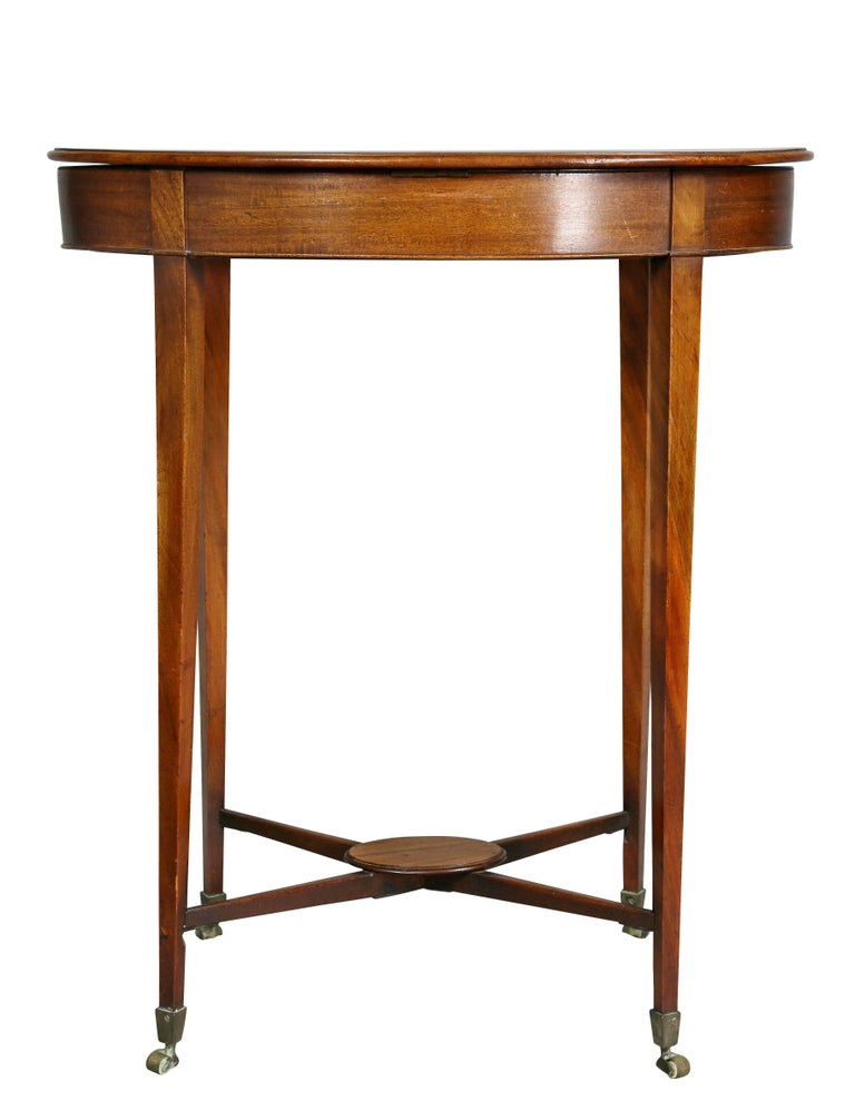 George III Mahogany Work or End Table 9