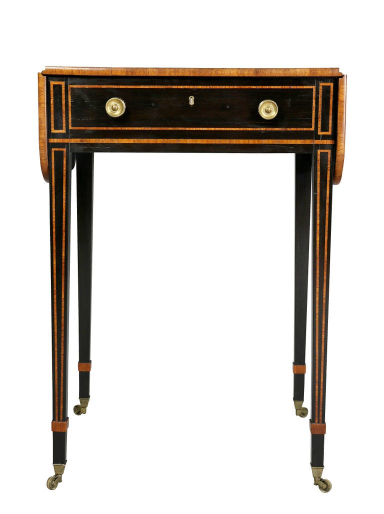 Regency ebony and rosewood side table for sale at 1stdibs for 10 wide end table