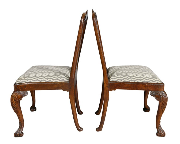 Pair of George II Walnut Side Chairs For Sale 3
