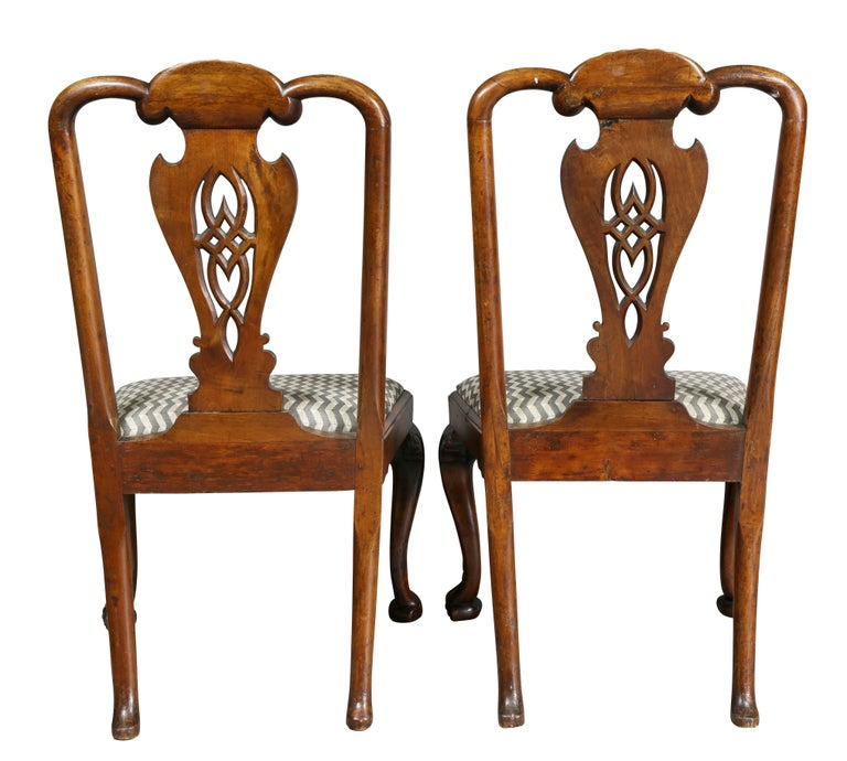 Pair of George II Walnut Side Chairs For Sale 4