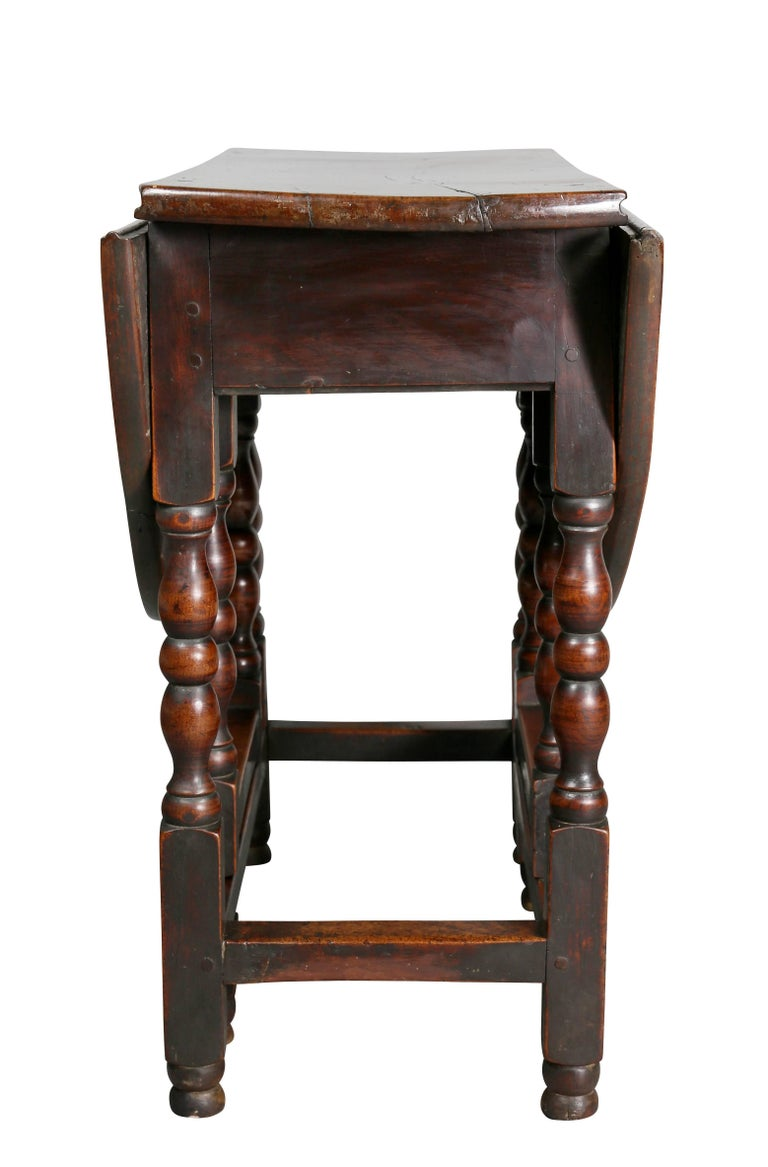 william and mary fruitwood gateleg table for sale at 1stdibs