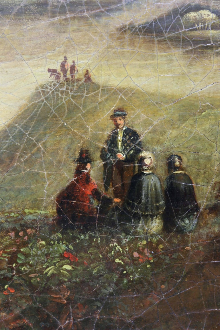 Victorian Scottish Landscape Oil on Canvas Painting For Sale