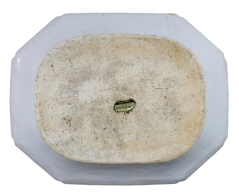 Late 18th Century Chinese Export Tobacco Leaf Porcelain Platter For Sale