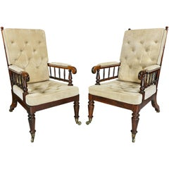Pair of Late Regency Rosewood Armchairs