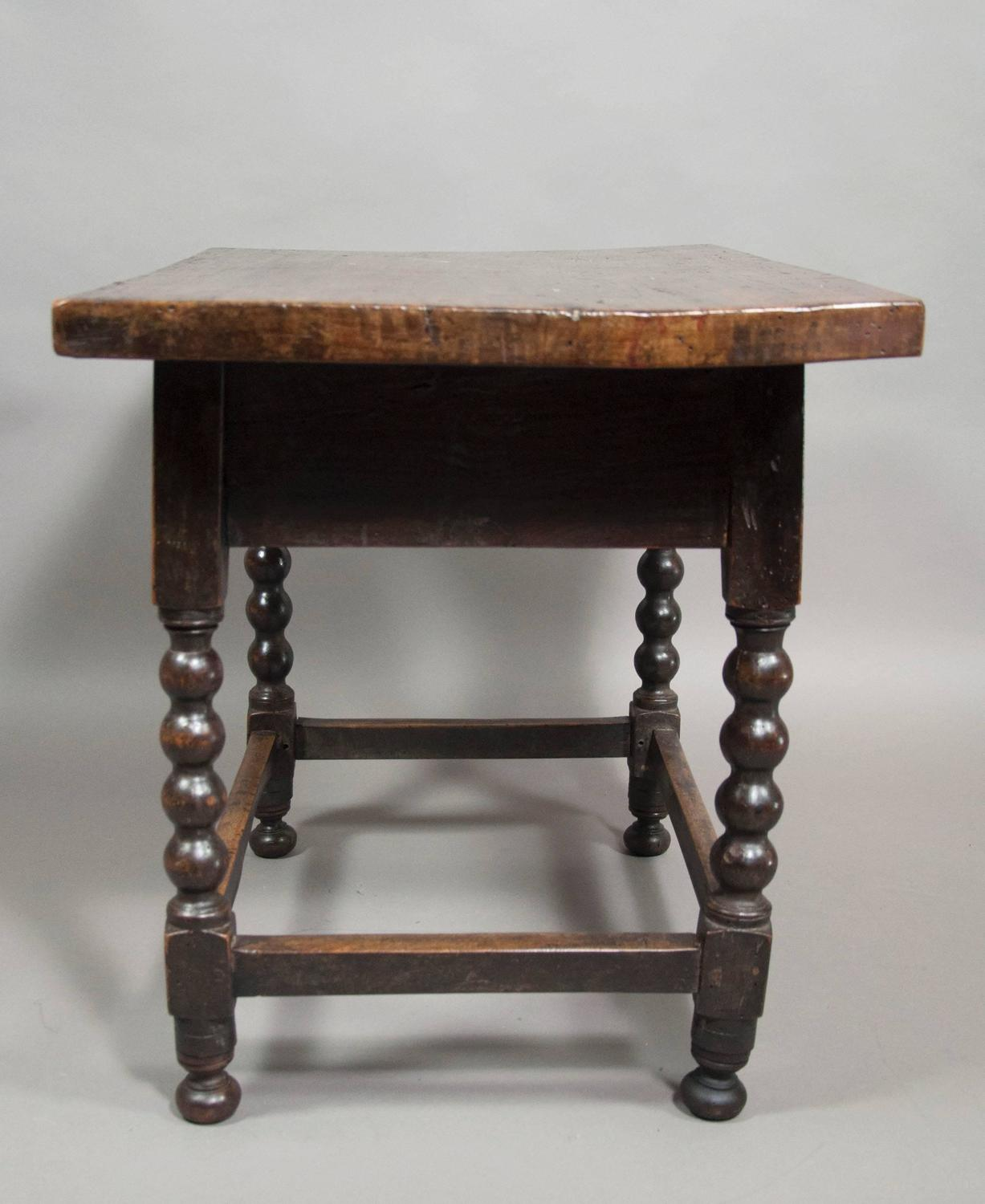 Spanish baroque walnut side table at 1stdibs for Spanish baroque furniture