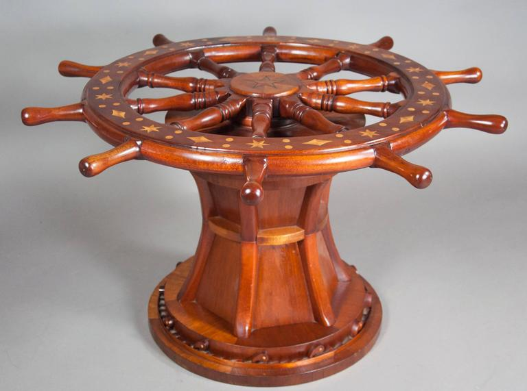 Nautical Ships Wheel Coffee Table At 1stdibs