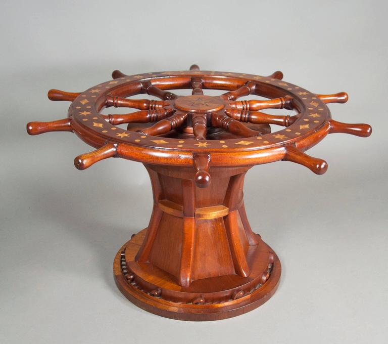Superior Nautical Ships Wheel Coffee Table 2