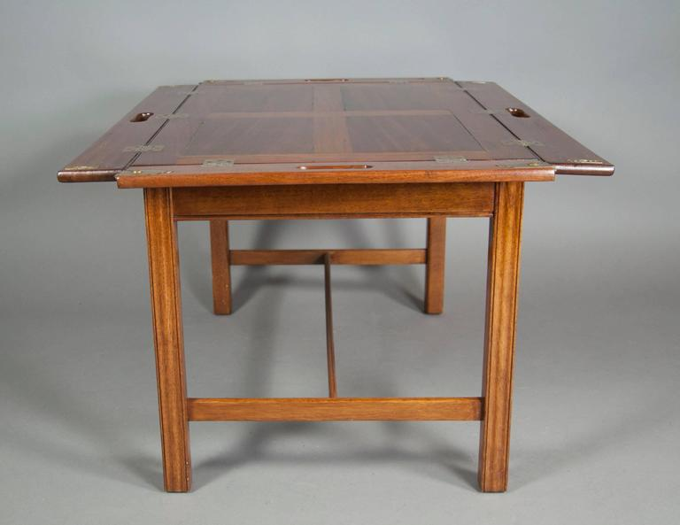 Victorian Mahogany Campaign Style Butlers Tray Coffee Table 3 - Victorian Mahogany Campaign Style Butlers Tray Coffee Table At 1stdibs