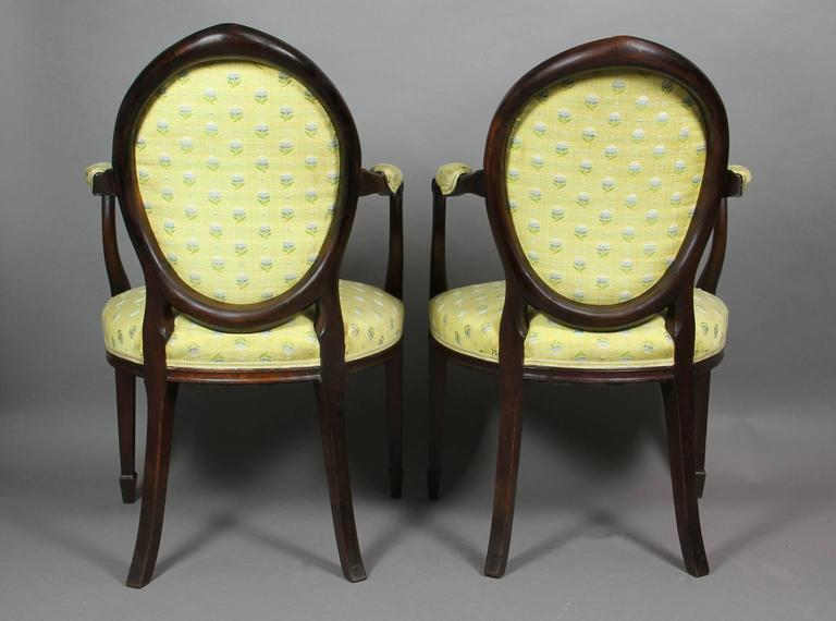 Pair of George III Mahogany Armchairs In Good Condition For Sale In Essex, MA