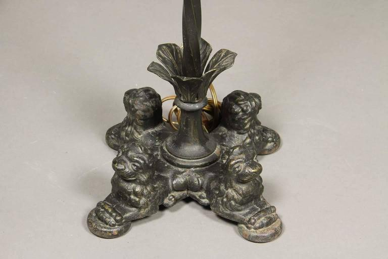 Other Pair of Renaissance Revival Cast Iron and Bronze Floor Lamps For Sale