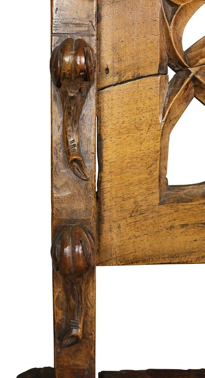 18th Century and Earlier Gothic Fruitwood Bench For Sale