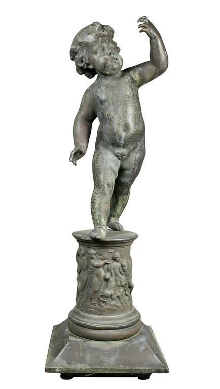 European Classical Revival Figure of a Cherub For Sale