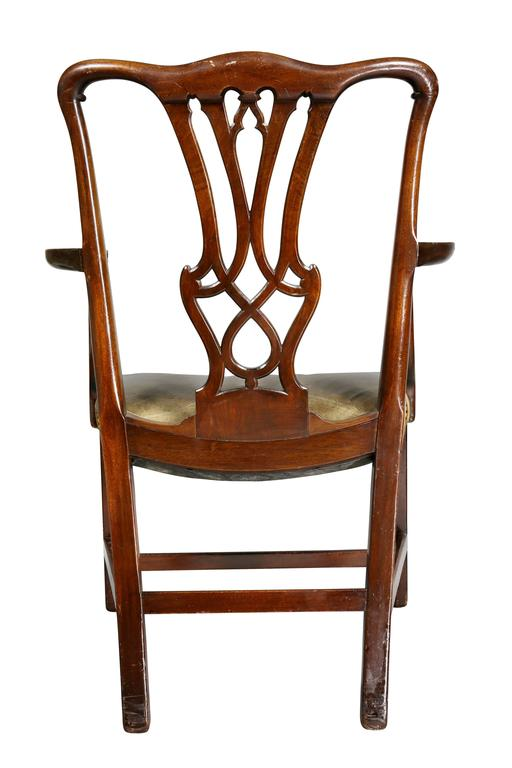 Set of Ten George III Style Mahogany Dining Chairs For Sale 5