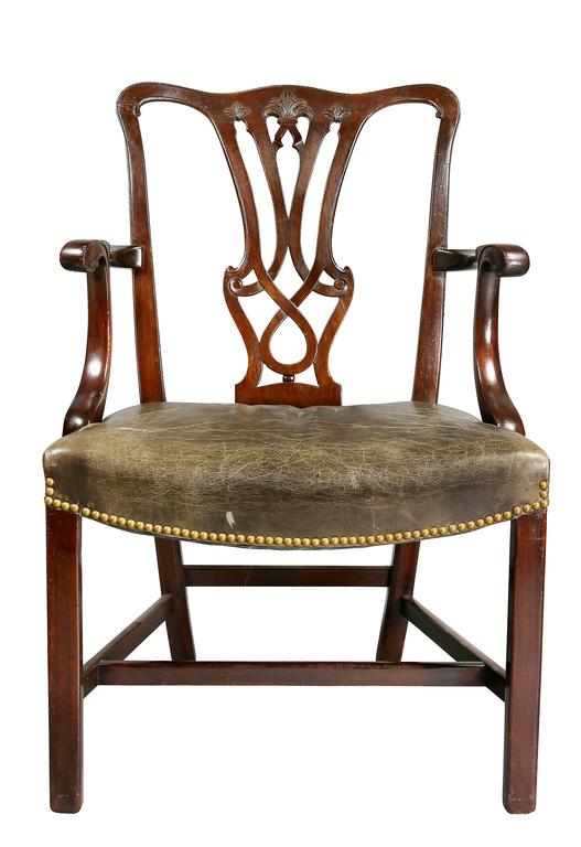 Great Britain (UK) Set of Ten George III Style Mahogany Dining Chairs For Sale