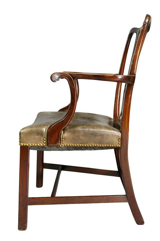 Set of Ten George III Style Mahogany Dining Chairs For Sale 4