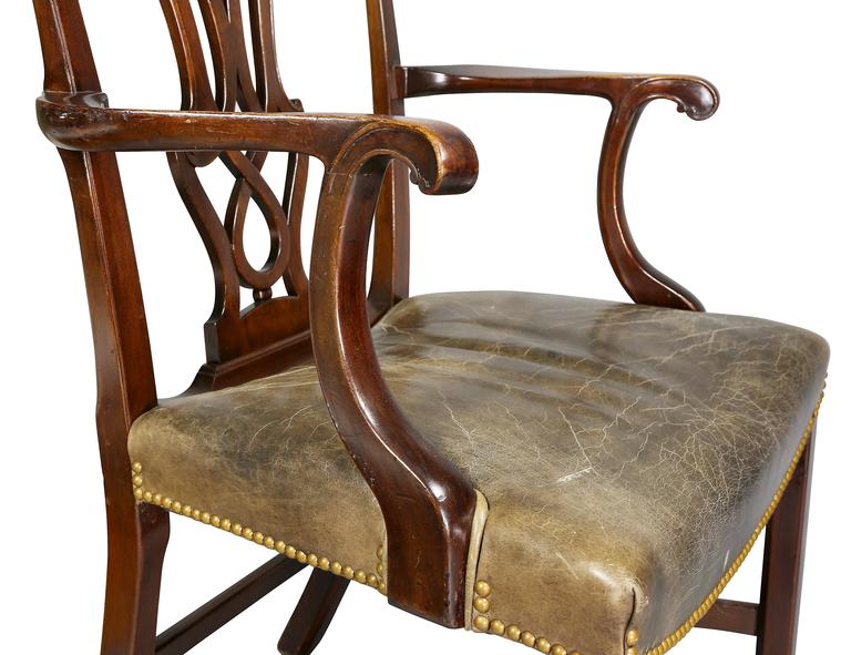 Mid-18th Century Set of Ten George III Style Mahogany Dining Chairs For Sale
