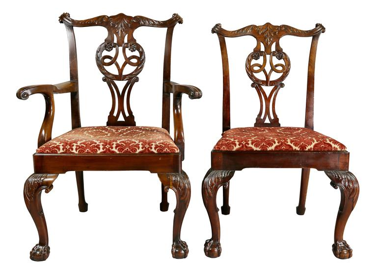 Great Britain (UK) Set of Eight Waring And Gillow George III Style Mahogany Dining Chairs For Sale