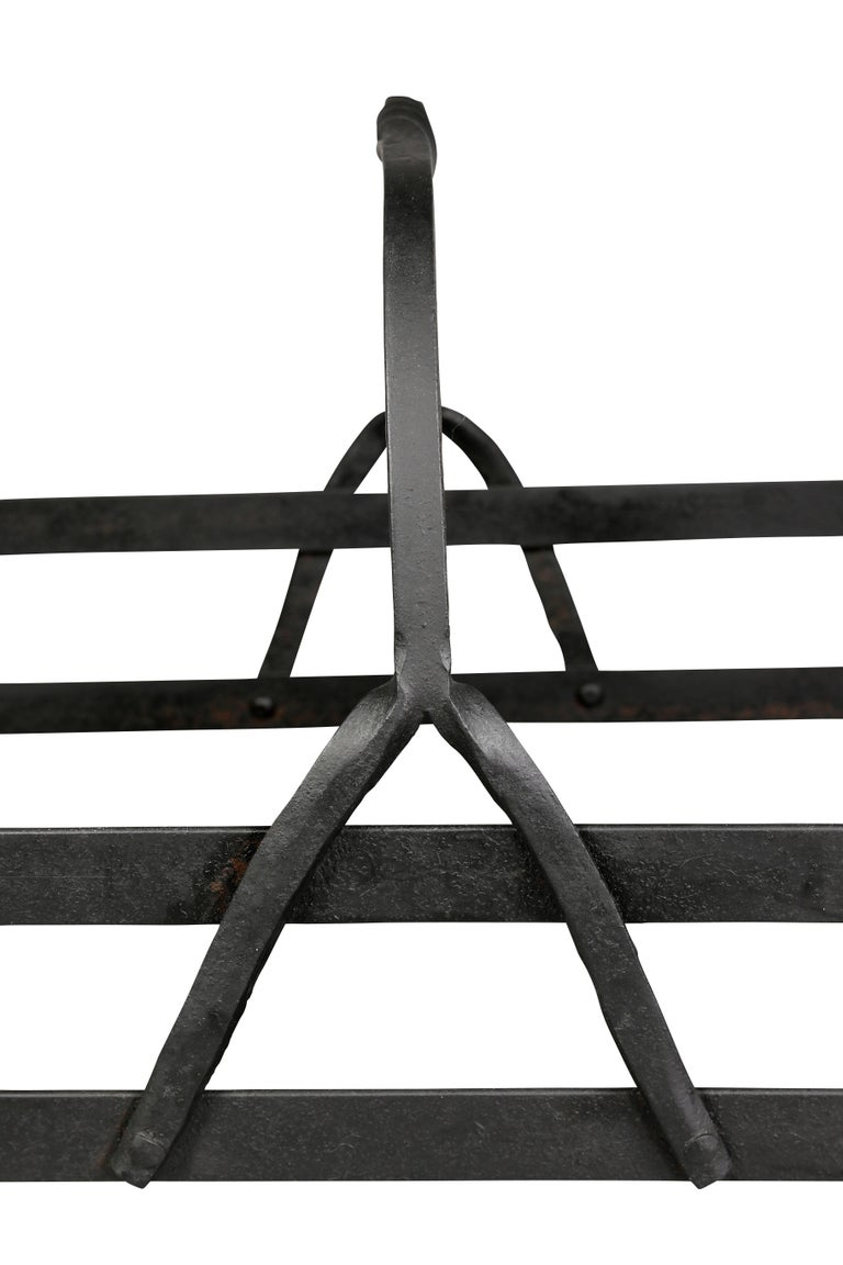 Wooden Iron Stand Designs : Arts and crafts wrought iron wood holder for sale at stdibs