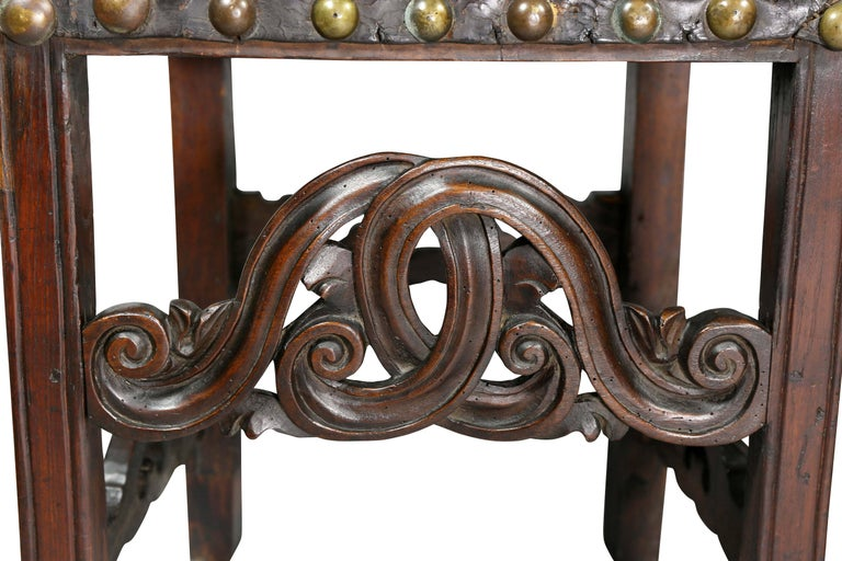 Pair of Portuguese Baroque Walnut Side Chairs For Sale 2