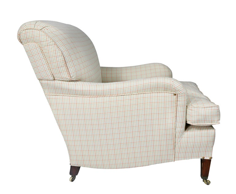 Upholstered Armchair Attributed to Howard and Sons