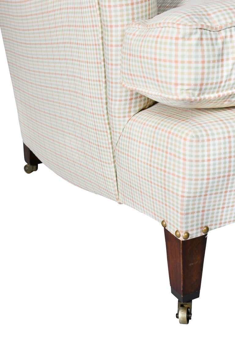 English Upholstered Armchair Attributed to Howard and Sons