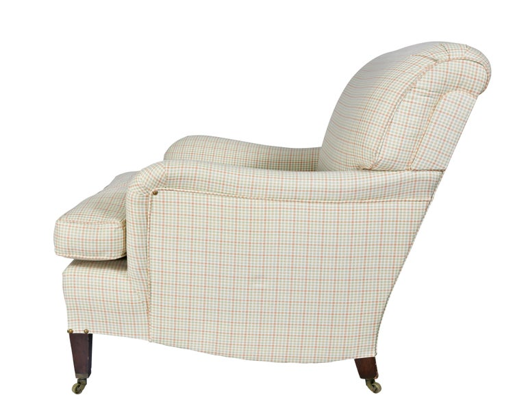 Early 20th Century Upholstered Armchair Attributed to Howard and Sons
