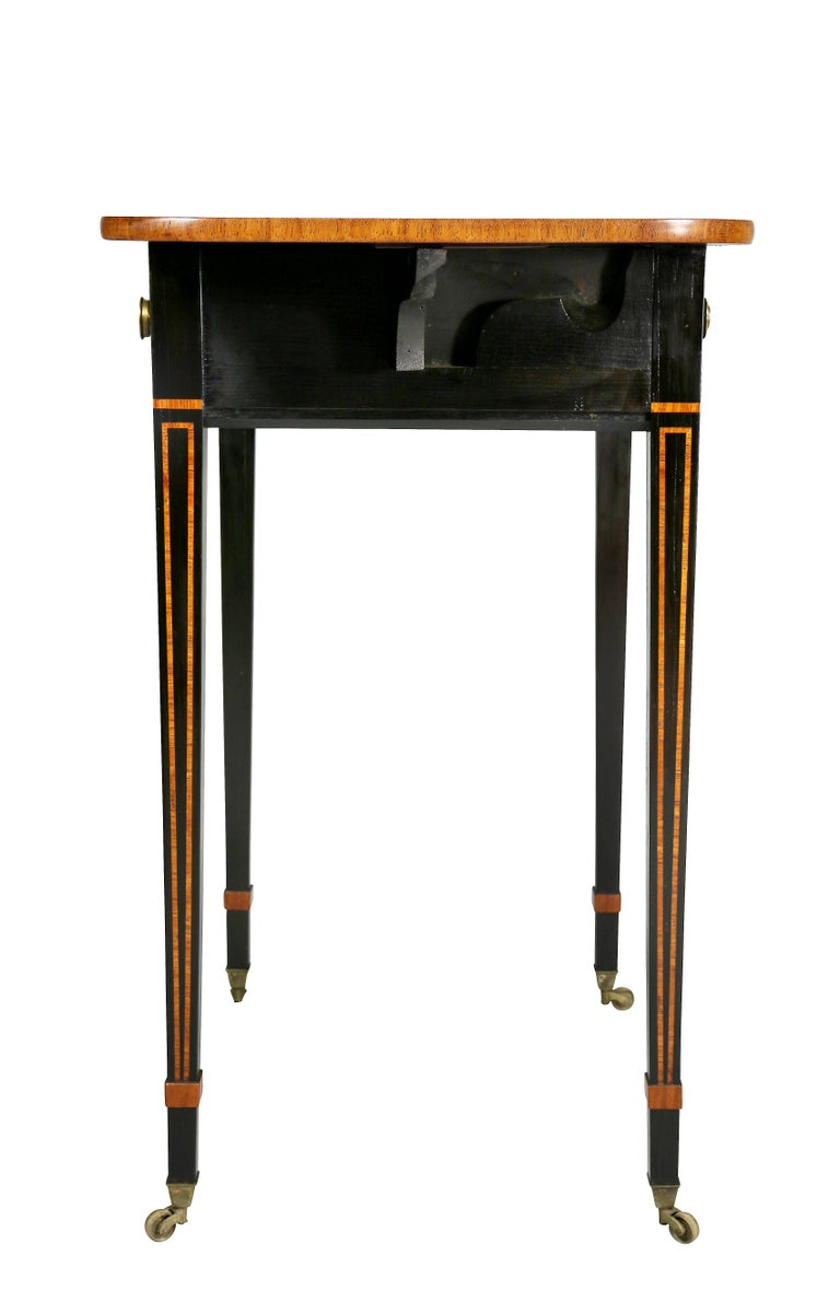 Regency Ebony and Rosewood Side Table For Sale 3