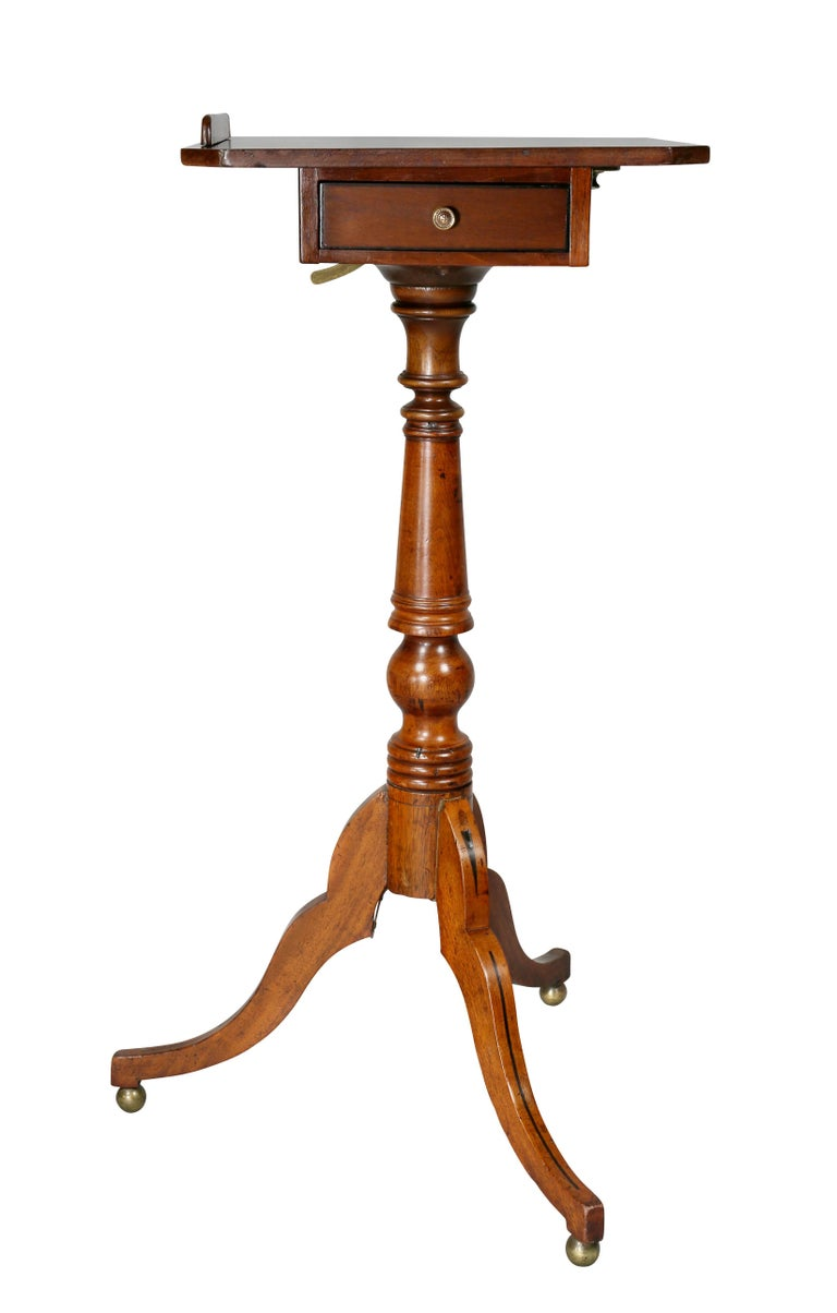 Regency Mahogany and Ebony Inlaid Music Stand For Sale 3