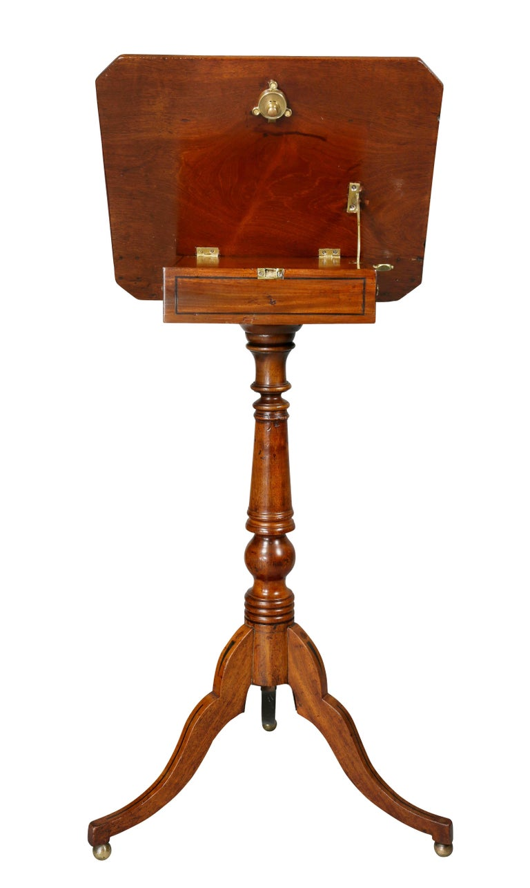 Regency Mahogany and Ebony Inlaid Music Stand For Sale 4