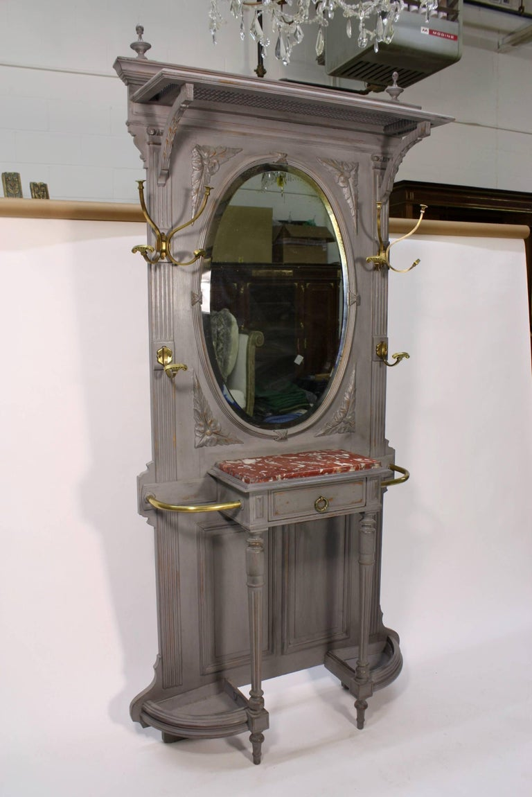 French Provincial French Coat and Umbrella Stand For Sale
