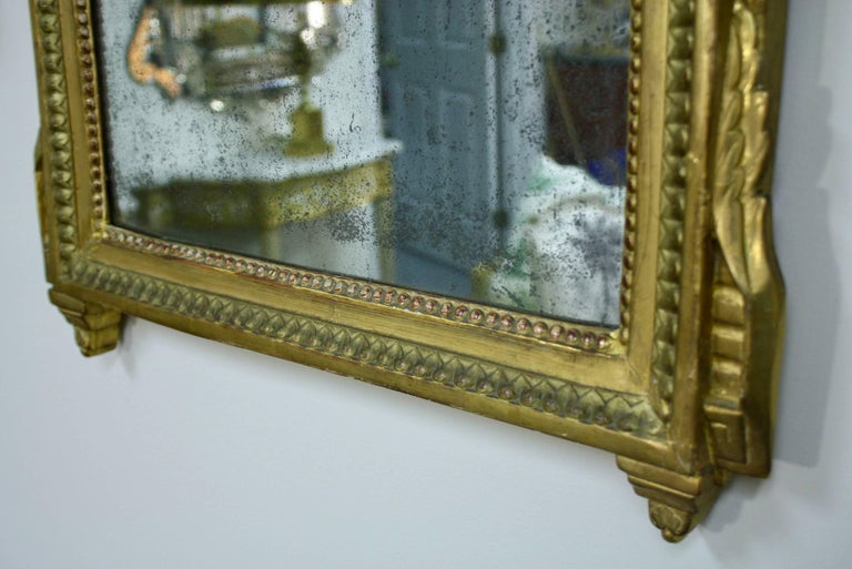 Louis XVI Period Trumeau Mirror with Eagle For Sale 1