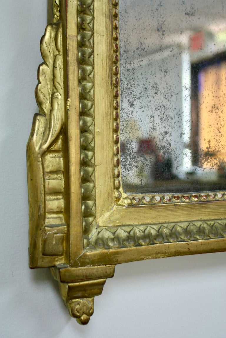 Louis XVI Period Trumeau Mirror with Eagle For Sale 2