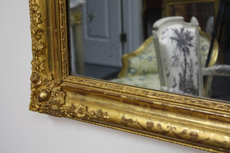 French Charles X Period Giltwood Mirror For Sale 2