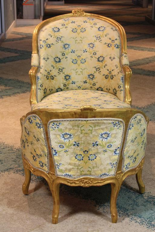 Louis XV Style Giltwood Chaise Longue In Good Condition For Sale In Pembroke, MA