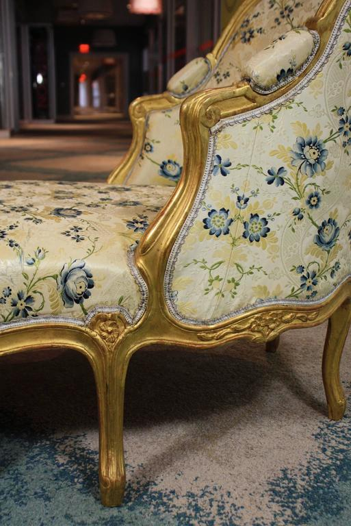 19th Century Louis XV Style Giltwood Chaise Longue For Sale