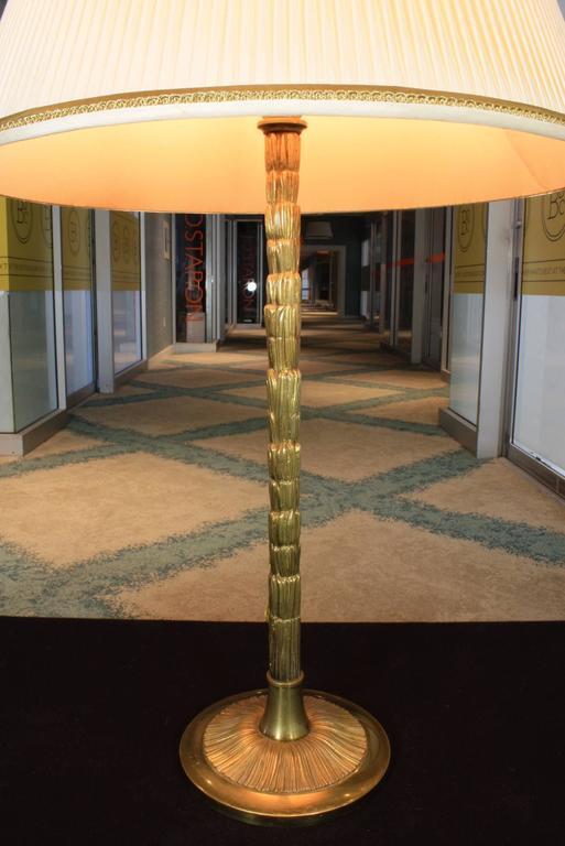 Mid-Century Modern Gilt-Bronze Table Lamp by Maison BaguèS For Sale