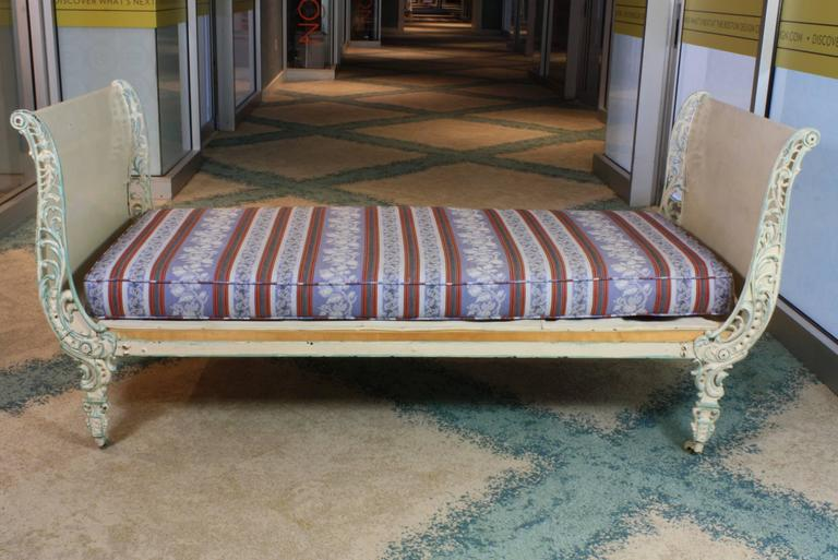 French louis xv style cast iron daybed at 1stdibs - Tete cherry bed ...