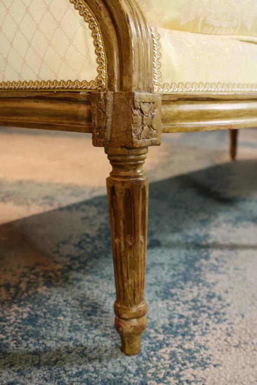 Down French Louis XVI Period Sofa For Sale